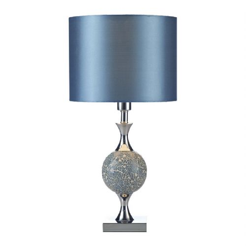 Elsa Table Lamp Blue Mosaic complete with Shade (Class 2 Double Insulated) BXELS4223-17